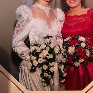 Lace & Beaded Wedding Dress